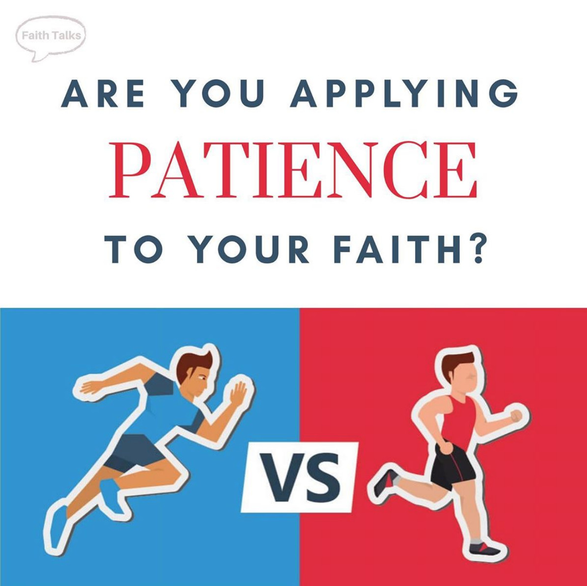 Are you applying patience to your faith?
