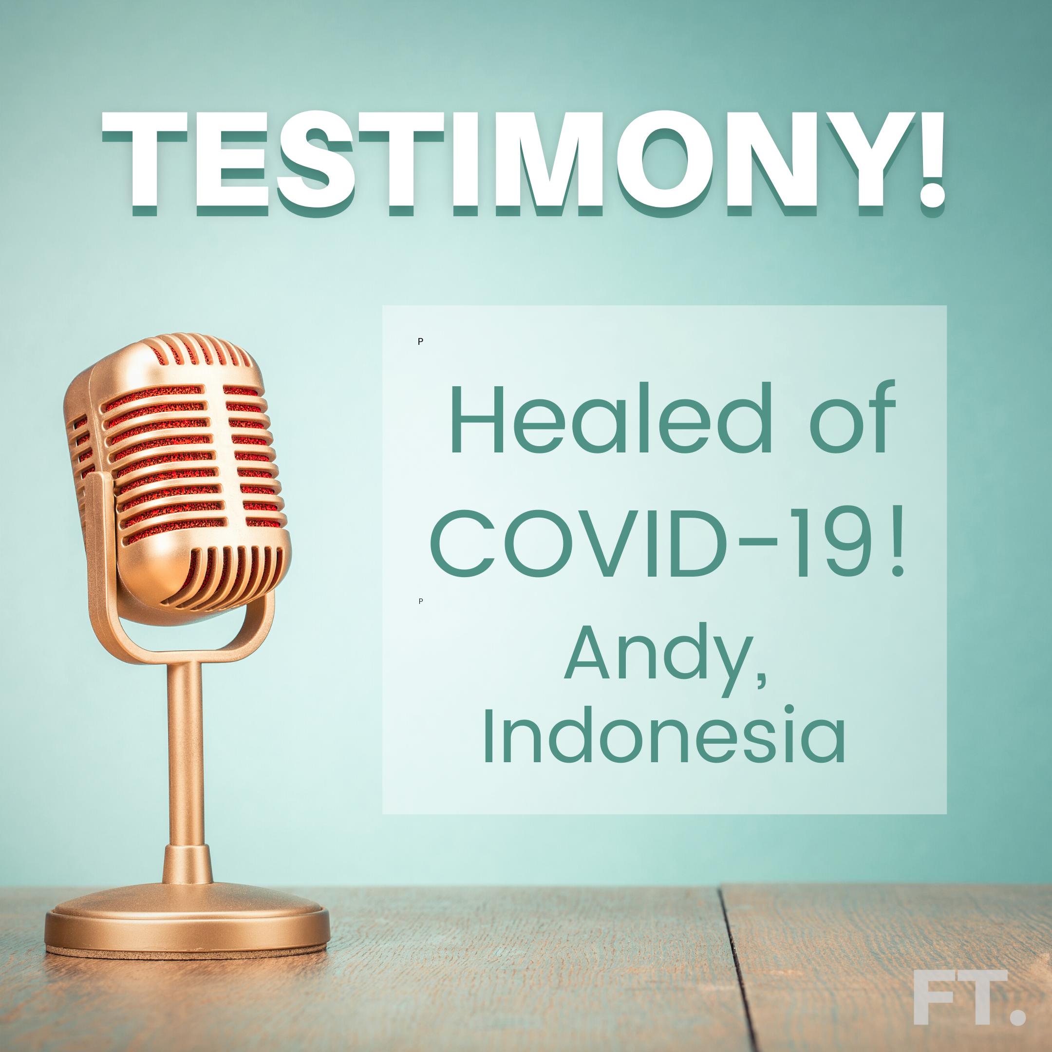 Testimony! Healed of COVID-19!